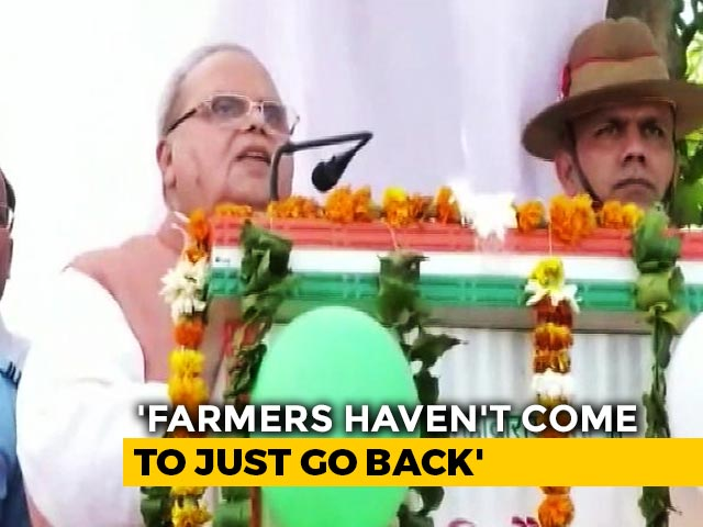Video : Meghalaya Governor SP Malik Urges Centre To Not Offend Farmers