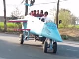 Video : Architect Builds Jet-Shaped Vehicle, Names It 'Punjab Rafale'