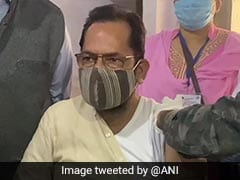 Mukhtar Abbas Naqvi Takes COVID-19 Vaccine In UP's Rampur