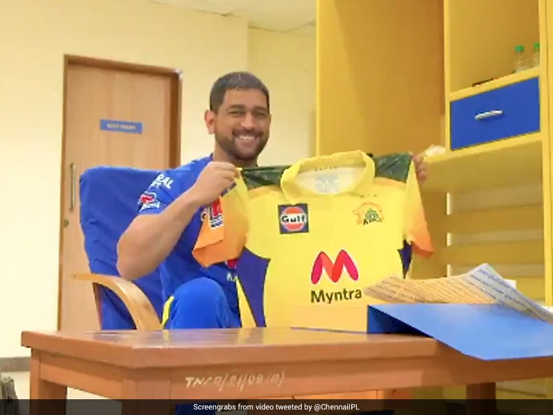 IPL 2021: MS Dhoni Unveils New Chennai Super Kings Jersey Ahead  | Latest News | Live Scores Today