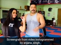 अंजना सिंह और पवन सिंह ने लिया Don't Rush चैलेंज, जिम में ही दोनों ने यूं किया डांस- देखें Video