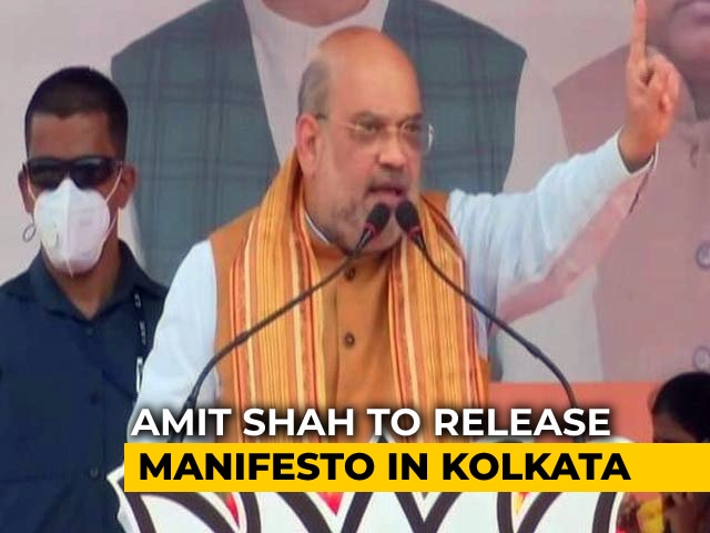 Video : PM Modi And Amit Shah In Bengal Today, BJP To Release Poll Manifesto