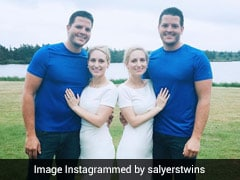 Identical Twins Got Married To Identical Twins. See If Babies Are Twins