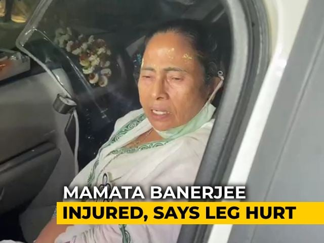 Video : Leg Swollen, Says Mamata Banerjee After Being Pushed