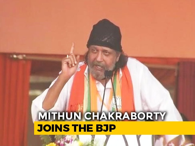 """Video : """"I'm A Pure Cobra"""": What Actor Mithun Chakraborty Said After Joining BJP"""