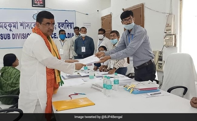 BJP's Suvendu Adhikari Files Nomination From Nandigram
