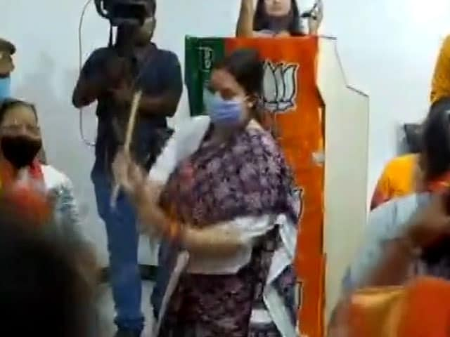 Video : Amid Tamil Nadu Poll Campaign, Smriti Irani Performs Dandiya