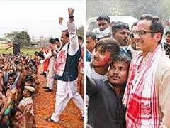 Watch: When Top Leaders From BJP, Congress Broke Into A Dance In Assam