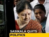 Video : Expelled AIADMK Chief VK Sasikala Quits Politics Ahead Of Tamil Nadu Polls