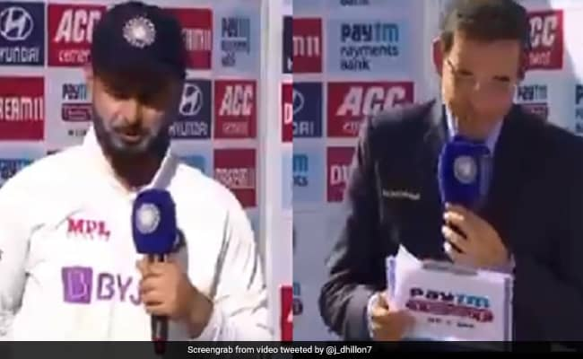 Rishabh Pants hilarious reply to Harsha Bhogle on his antics is winning the internet Watch video india vs England 4th Test