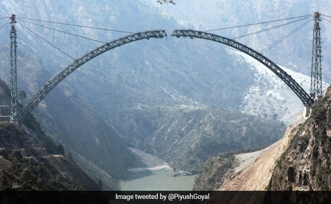 World's Highest Railway Bridge In J&K Completes A Construction Milestone