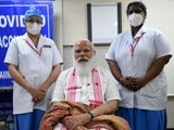 Video : What PM Modi Told Nurse After Receiving Vaccine