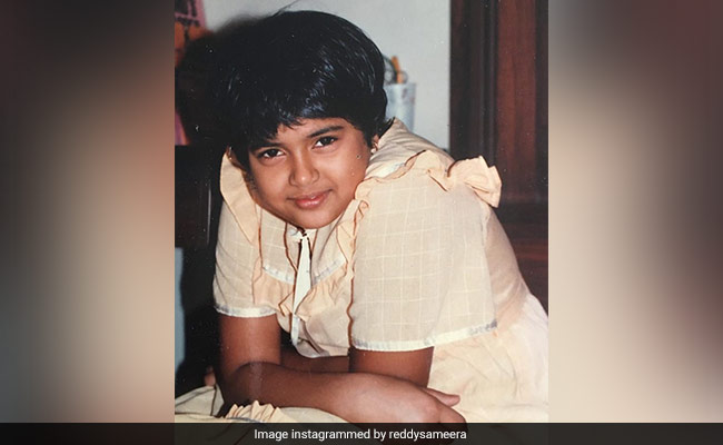 Sameera Reddy's Throwback To 'When Her Best Frock And Boy Cut Were Her Superpowers'