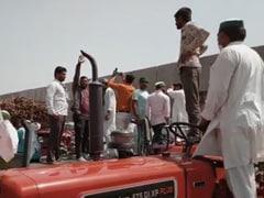 Farmers Block Expressway Near Delhi