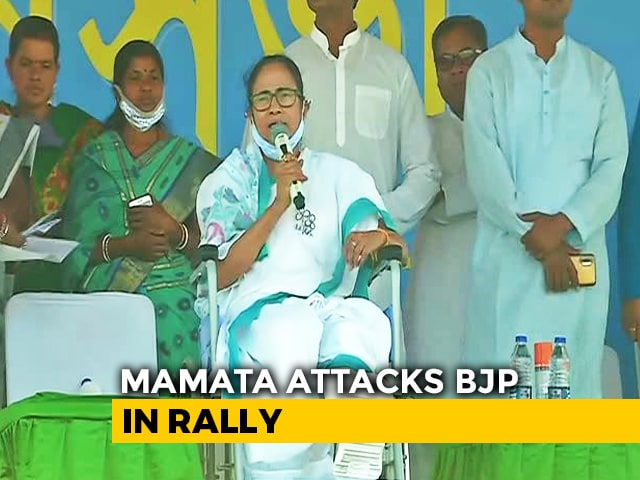 """Video : """"People's Pain Greater..."""": Mamata Banerjee, In Wheelchair, At Rally"""