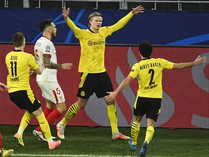 Champions League: Erling Braut Haaland Double Fires Borussia Dortmund Into Quarter-Finals