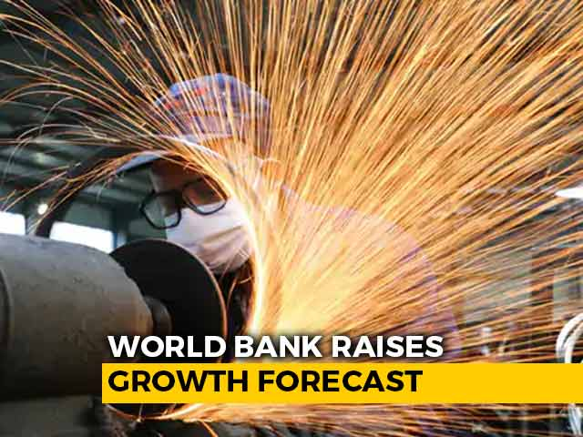 Video : World Bank Raises India's Growth Forecast To 10.1% From 5.4% For 2021-22