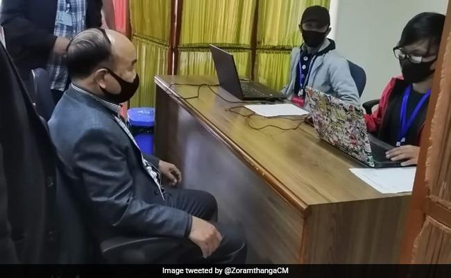 Mizoram Chief Minister Zoramthanga Gets Covid Vaccine