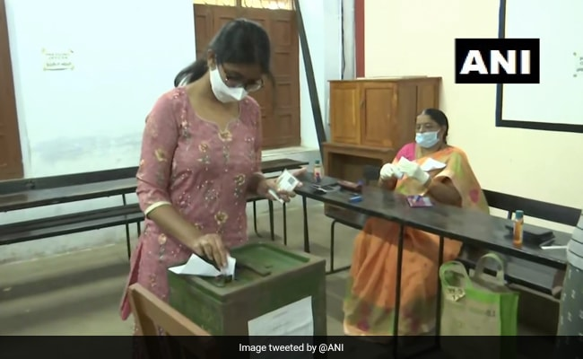 Voting Underway For Andhra Pradesh Municipal Elections