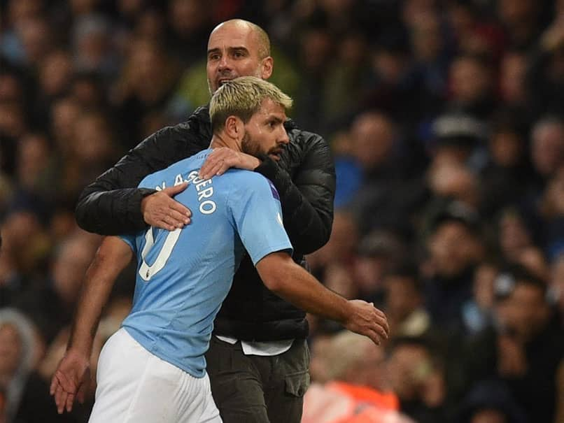 """Sergio Aguero is """"irreplaceable in the souls, in the hearts, in the minds of our fans,"""" Manchester City manager Pep Guardiola has said of the club's record goalscorer who is to leave at the end of the season."""