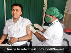 Goa Chief Minister Pramod Sawant Gets First Covid Vaccine Dose