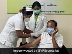 Vice President M Venkaiah Naidu Takes First Dose Of COVID-19 Vaccine In Chennai