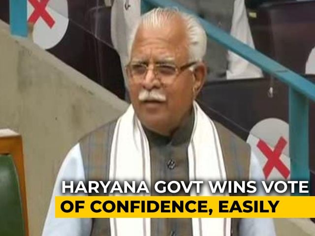 Video : Despite Farmers' Protests And Congress Moves, BJP Wins Haryana Trust Vote