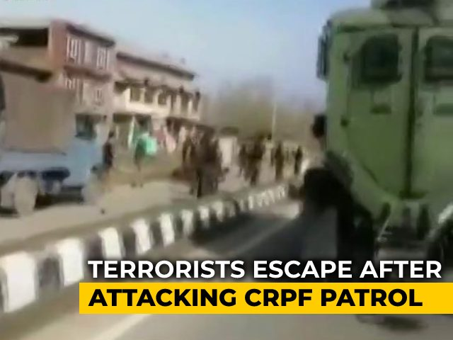 Video : Two Paramilitary Personnel Die In Attack By Terrorists Outside Srinagar