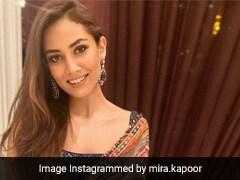 Like Mira Rajput, Ace Wedding Style In A Multicoloured Saree