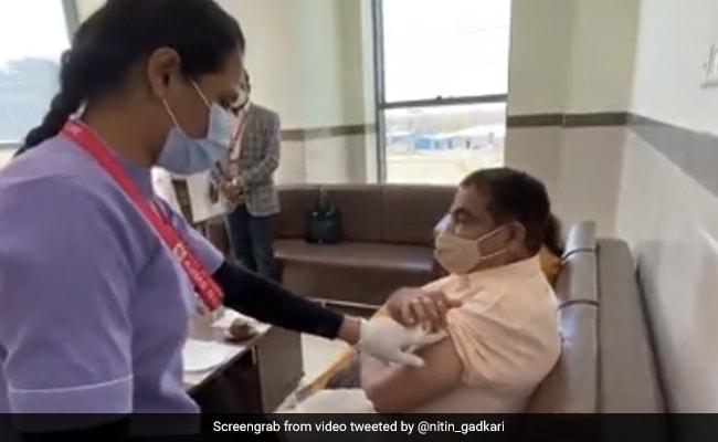Union Minister Nitin Gadkari, Wife Get 1st Dose Of Covid Vaccine
