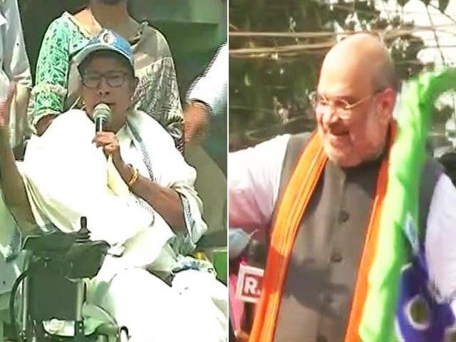 Video : Mamata Banerjee Vs Suvendu Adhikari At Bengal's Poll Epicentre Nandigram