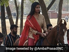 Women's Day: Jharkhand MLA Rides To Assembly On Horse Gifted By Retired Army Man