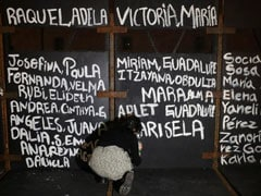 """Victims Of Femicide"": Mexico Activists Paint Woman Violence Victims' Names On Barriers"