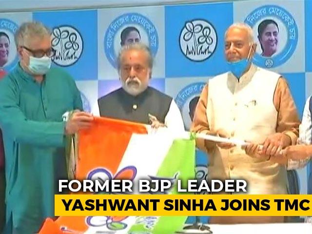 Video : Yashwant Sinha, Ex-BJP Leader, Joins Trinamool Ahead Of Bengal Polls
