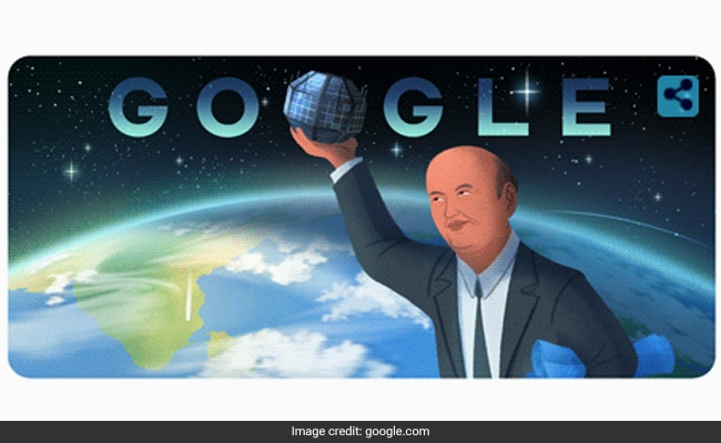 Google salutes the scientist standing behind India's first satellite 'Aryabhata' by doodle