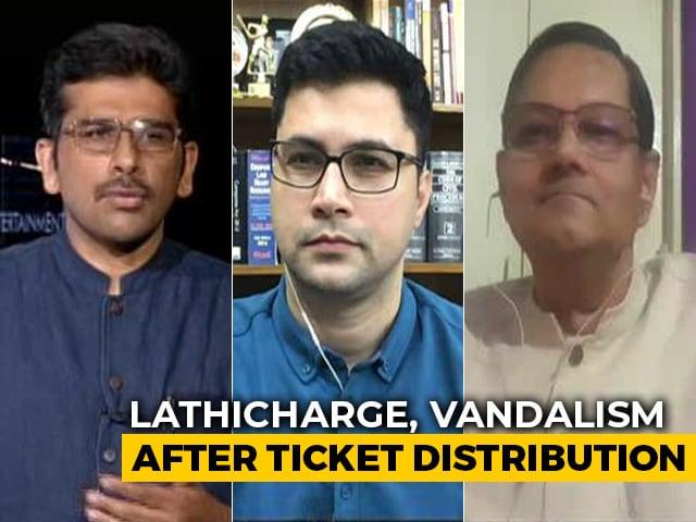 Video : Anger, Chaos Outside BJP Office In Kolkata