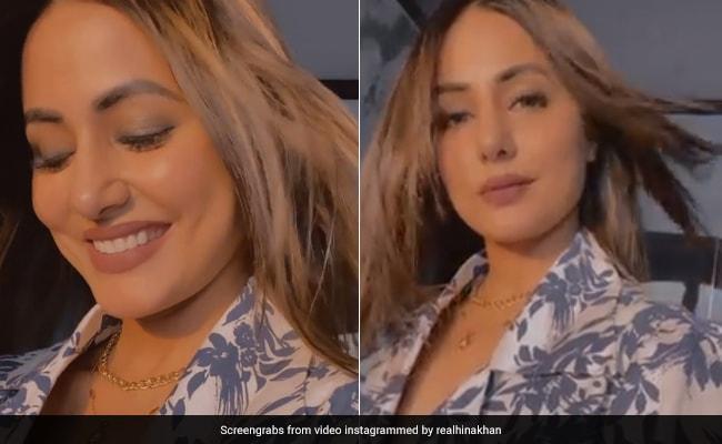 हिना खान कैमरे की तरफ देख लगीं शर्माने, फिर यूं मुस्कुराकर दिये एक्सप्रेशंस- देखें Video