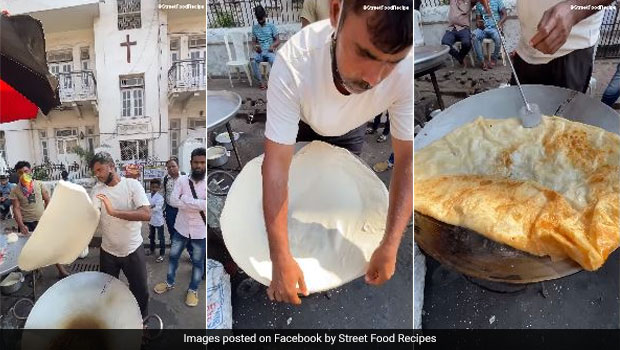 Viral Video: Have You Seen Mumbai's Biggest Halva Paratha That Stunned The Internet?