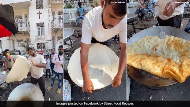 Mumbai's Biggest Halva Paratha: Do You Seen Mumbai's Biggest Halva Paratha, Here The Viral Video