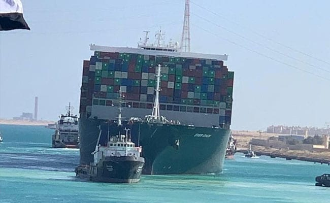 Container ship stuck in Suez Canal freed after almost  a week