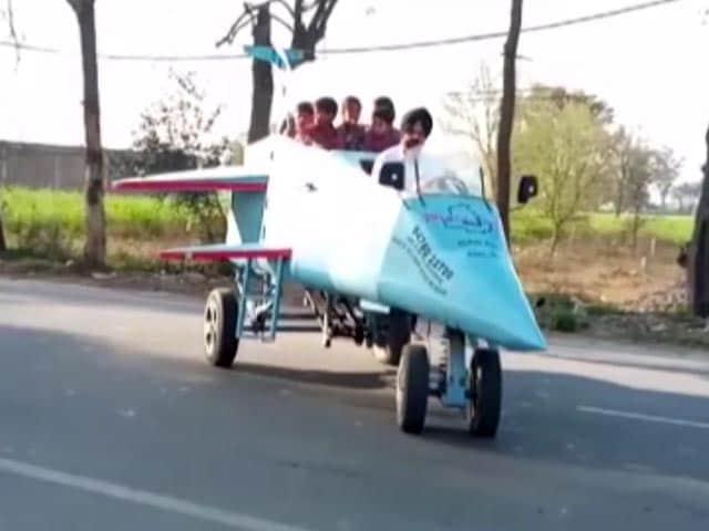 Video : Architect Builds Jet-Shaped Vehicle, Names It 'Punjab Rafale'