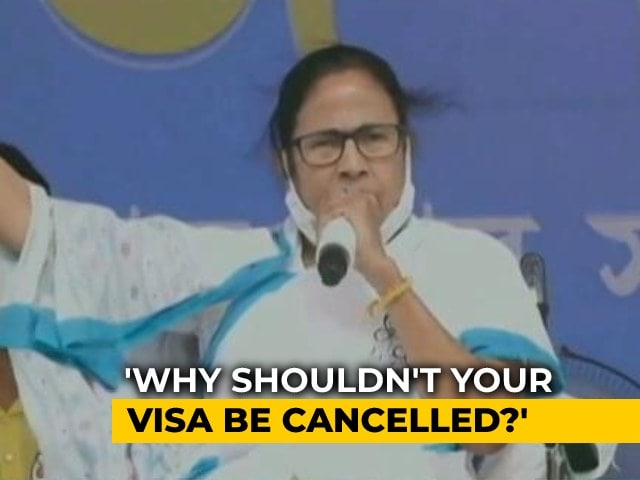 "Video : ""Your Visa Should Be Cancelled"": Mamata Banerjee On PM's Bangladesh Trip"