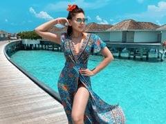 "Shefali Jariwala ""Dreams In Shades Of Blue"" In The Maldives"