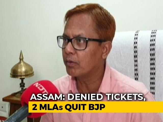 Video : Assam BJP MLA Alleges 'Political Wipeout' Of Old-Timers, Quits Party