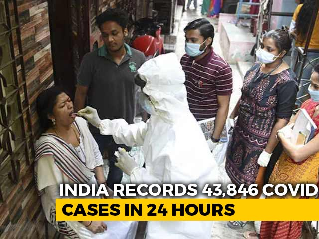 Video : With 43,846 Covid Cases, India Sees Biggest Daily Rise In Nearly 4 Months