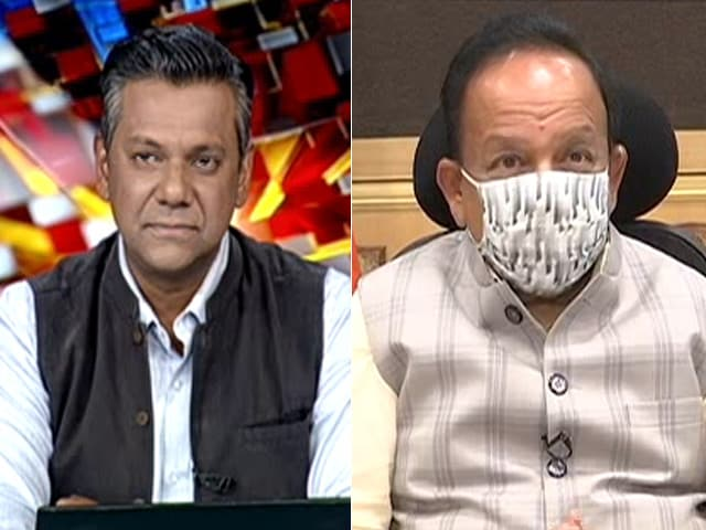 """Video : """"Nobody Should Relax Just Because Vaccine Is Here,"""" Says Harsh Vardhan"""