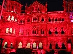 Mumbai's Chhatrapati Shivaji Maharaj Terminus Lit Up In Red. See Pics