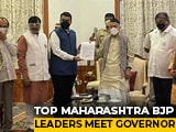 Video : BJP's Devendra Fadnavis Meets Governor Over Maharashtra Home Minister Row