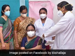Kerala Health Minister KK Shailaja Receives First Dose Of Covid Vaccine