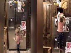 कुकीज लेने के लिए बच्ची ने किया टॉम क्रूज जैसा स्टंट, वायरल हुआ वीडियो
